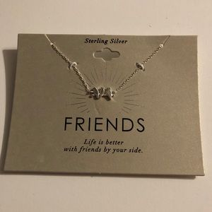 Three Birds 'Friends' Sterling Silver Necklace
